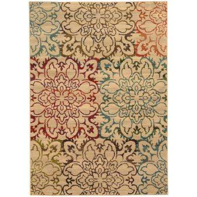 Everdeen Tan 5 ft. x 8 ft. Area Rug