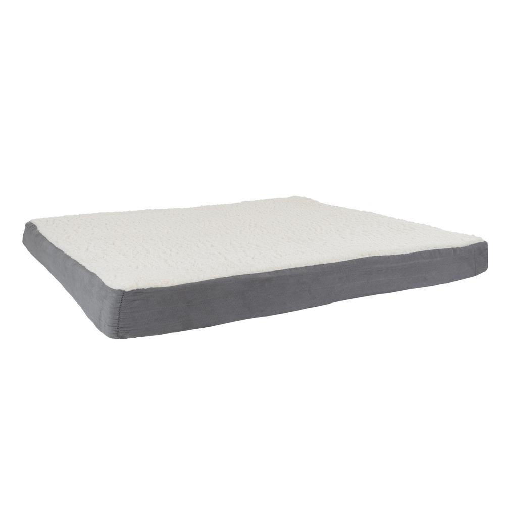 Petmaker Jumbo Gray Orthopedic Sherpa Pet Bed M320151