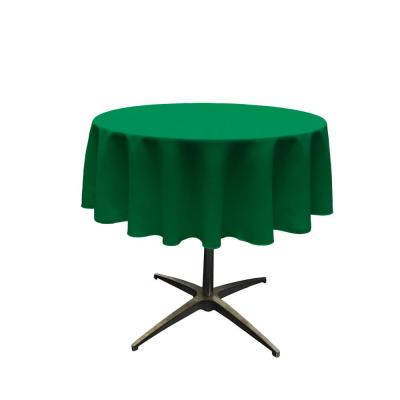 58 in. Round Emerald Green Polyester Poplin Tablecloth
