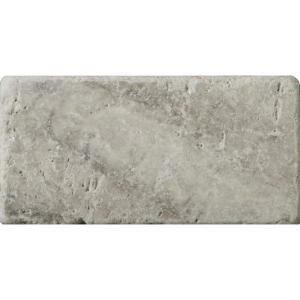 Travertine Tile Home Depot >> Emser Trav Ancient Tumbled Silver 2.95 in. x 5.91 in