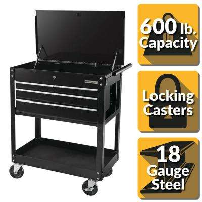 30 in. 4-Drawer Roller Cabinet Tool Chest in Black