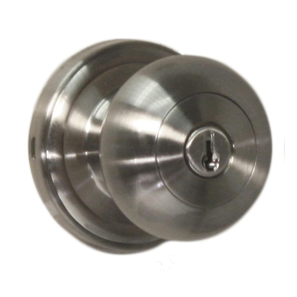 Weslock Traditionale Satin Nickel Keyed Entry Impresa Knob 00640ininsl23 The Home Depot