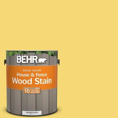 1 gal. #P310-5 Solar Energy Solid Color House and Fence Exterior Wood Stain
