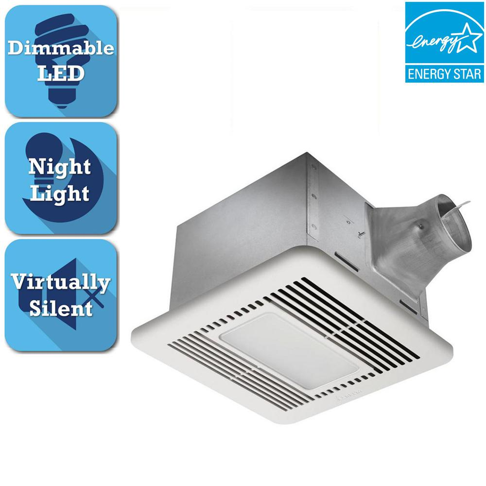 Delta breez signature g2 series 110 cfm ceiling bathroom exhaust fan delta breez signature g2 series 110 cfm ceiling bathroom exhaust fan with led light and night aloadofball Gallery