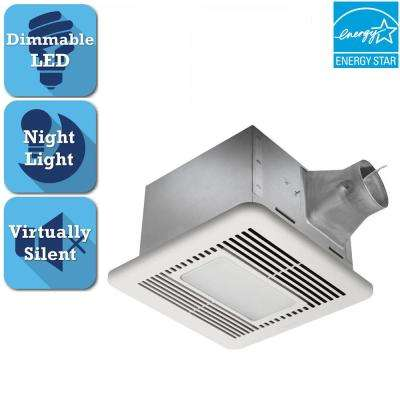 Signature G2 Series 110 CFM Ceiling Bathroom Exhaust Fan with LED Light and Night-Light, ENERGY STAR*