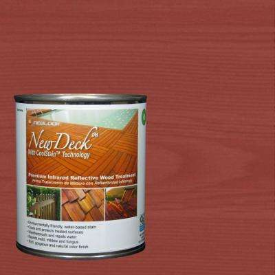 1 qt. Premium Infrared Reflective Redwood Exterior and Interior Wood Stain Treatment
