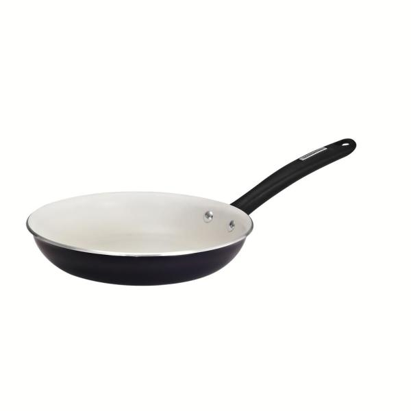 Tramontina Gourmet 10 in. Ivory White Nonstick Aluminum Fry Pan in