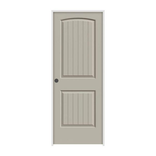 28 in. x 80 in. Santa Fe Desert Sand Right-Hand Smooth Solid Core Molded Composite MDF Single Prehung Interior Door