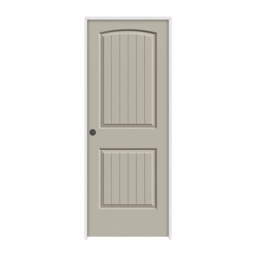 JELD-WEN 36 in. x 80 in. Santa Fe Desert Sand Right-Hand Smooth Solid Core Molded Composite MDF Single Prehung Interior Door