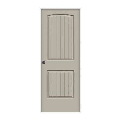 24 in. x 80 in. Santa Fe Desert Sand Painted Right-Hand Smooth Molded Composite MDF Single Prehung Interior Door