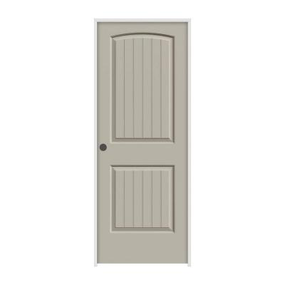 32 in. x 80 in. Santa Fe Desert Sand Painted Right-Hand Smooth Molded Composite MDF Single Prehung Interior Door