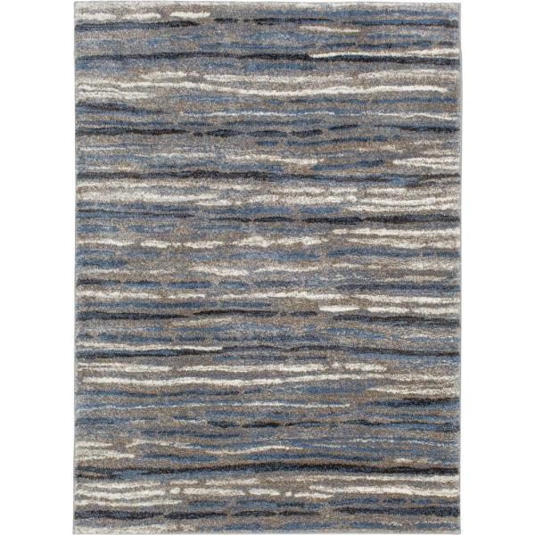 Shoreline Blue/Multi 8 ft. x 10 ft. Striped Area Rug