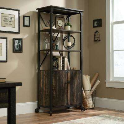 Steel River Carbon Oak Tall Bookcase with Doors