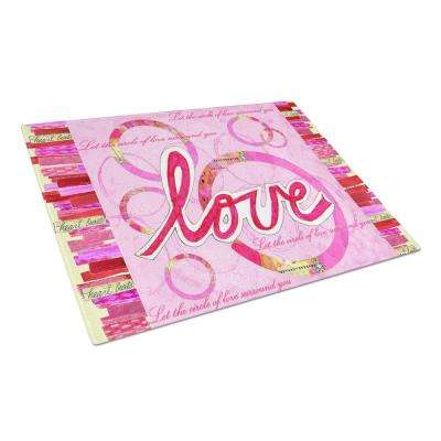Love is a Circle Valentine's Day Tempered Glass Large Cutting Board
