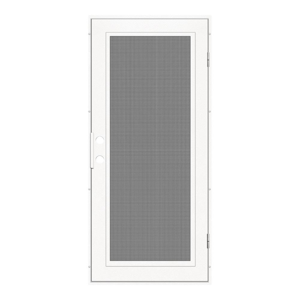 Unique home designs 32 in x 80 in navajo white surface - 30 x 80 exterior door with pet door ...