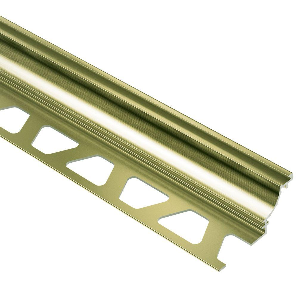 Dilex-AHK Brushed Brass Anodized Aluminum 1/2 in. x 8 ft. 2-1/2