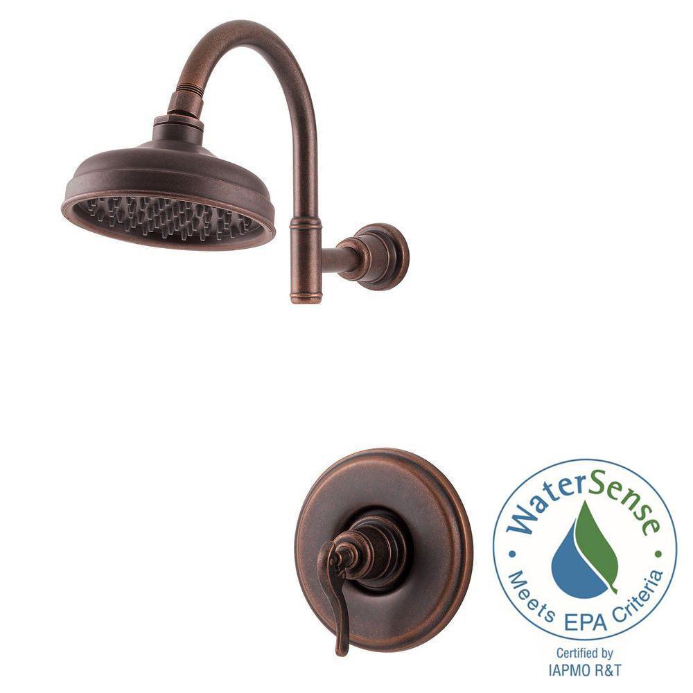 Pfister Ashfield Single-Handle Shower Faucet Trim Kit in Rustic ...