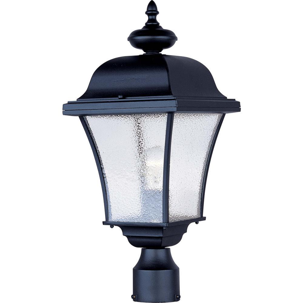 Senator 9 in. Wide 1-Light Outdoor Rust Patina Post Light