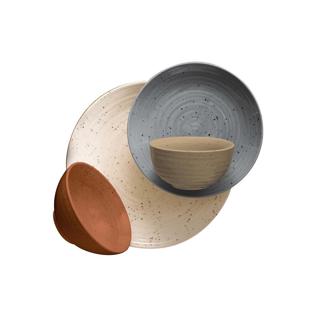 Siterra Painter's Palette 16-Piece Stoneware Dinnerware Set