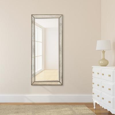 Medium Rectangle Champagne Beveled Glass Classic Mirror (24 in. H x 54 in. W)