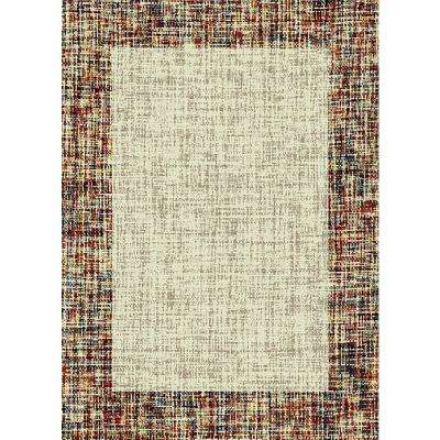 Aiza Collection Ivory 5 ft. 3 in. x 7 ft. 3 in. Area Rug