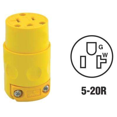 20 Amp 125-Volt Grounding Connector, Yellow