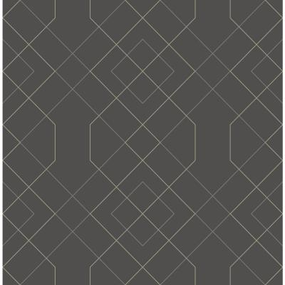 Ballard Grey Geometric Grey Paper Strippable Roll (Covers 56.4 sq. ft.)