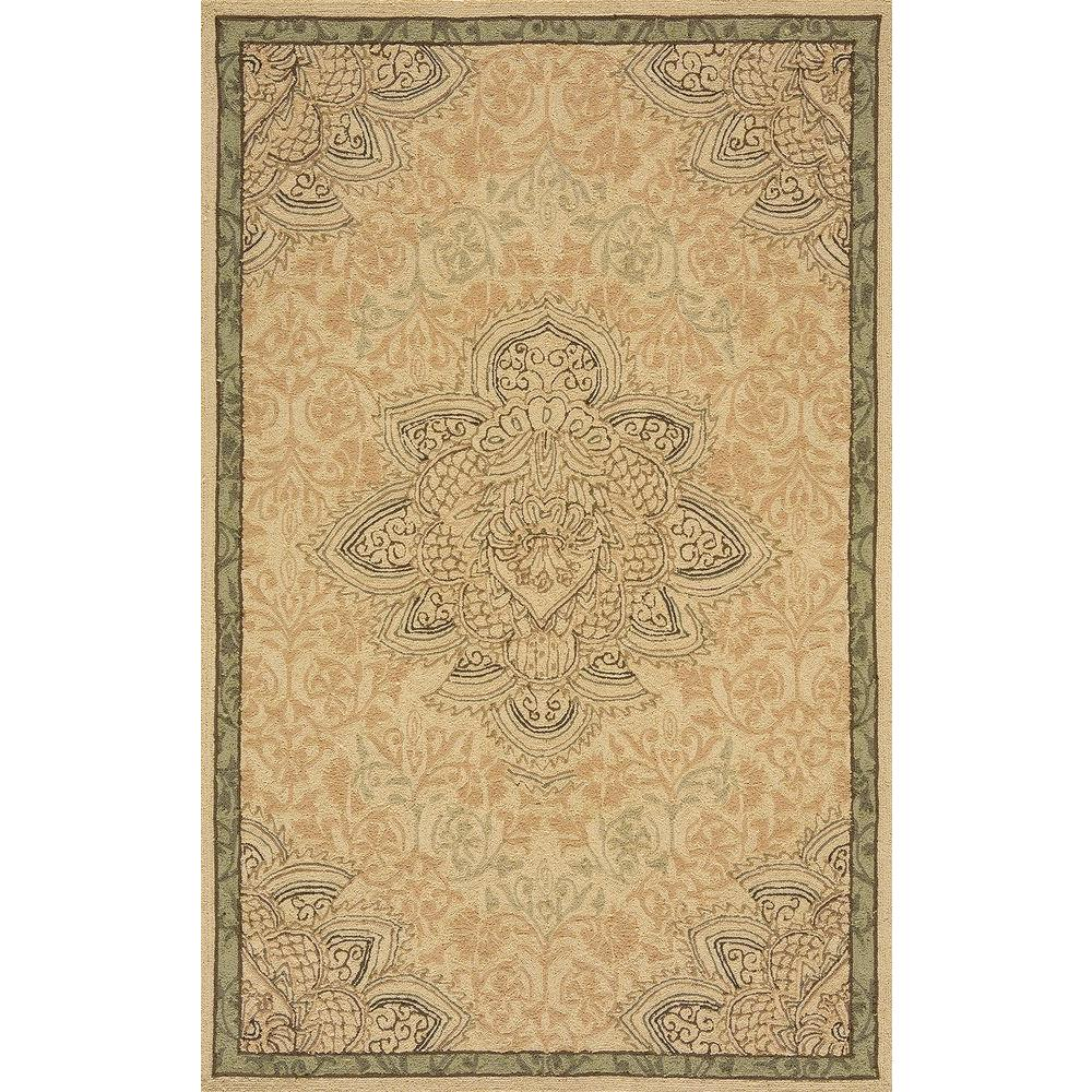 Momeni Terrace Medallion Earth 4 Ft. X 6 Ft. Indoor/Outdoor All
