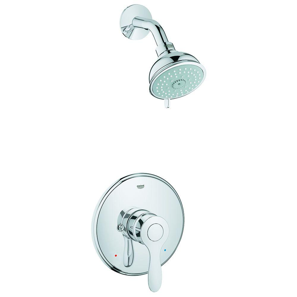 Parkfield Single-Handle 4-Spray Shower Faucet in StarLight Chrome (Valve Not