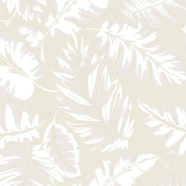 Norwall Beige Palm Leaf Wallpaper Pa34259 The Home Depot
