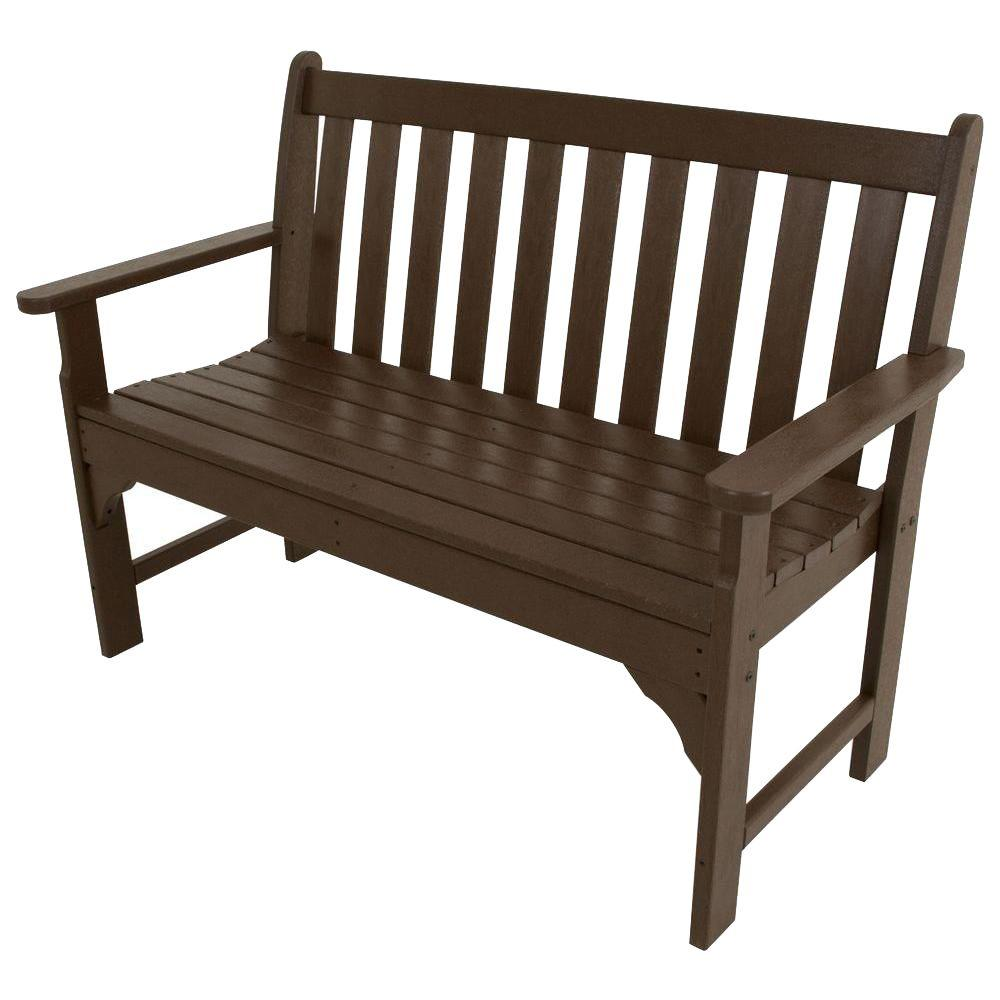 Vineyard 48 in. Mahogany Patio Bench