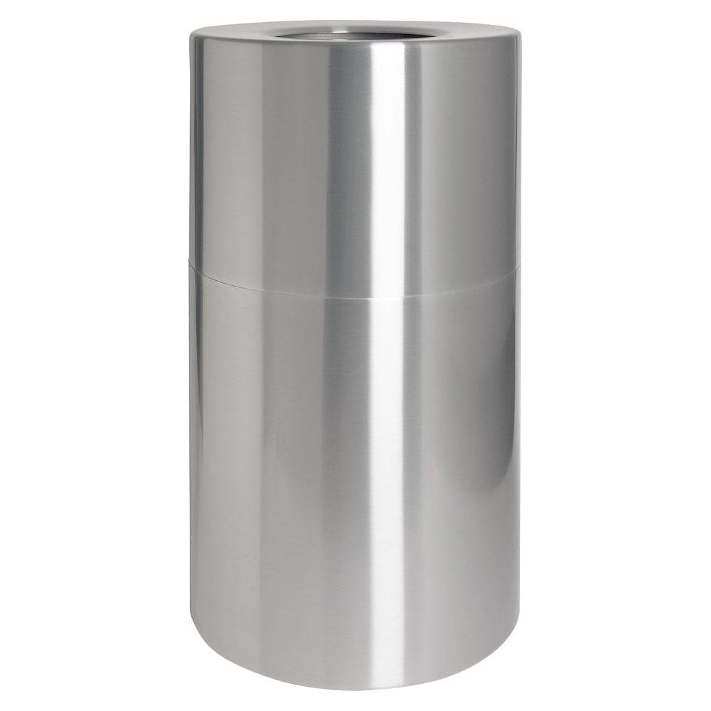 Aluminium Garbage Cans : Genuine joe gal aluminum round open top trash can