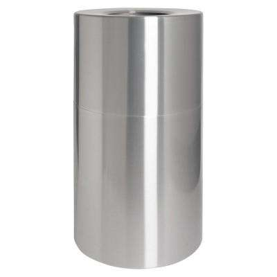 35 Gal. Aluminum Round Open Top Trash Can