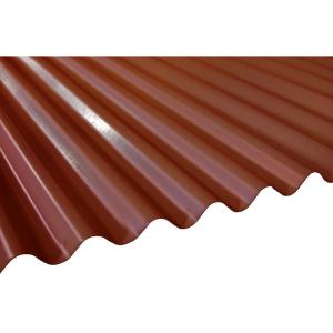 12 Ft. Terra Cotta Deep Corrugated Steel Roof Panel RF/DC26/TCO/144   The Home  Depot