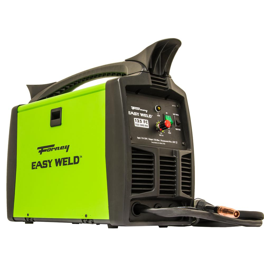 Forney 120-Volt 125 Amp Easy Weld Flux Core Only MIG Weld...