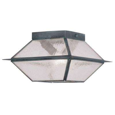 Mansfield 2-Light Outdoor Charcoal Incandescent Ceiling Mount