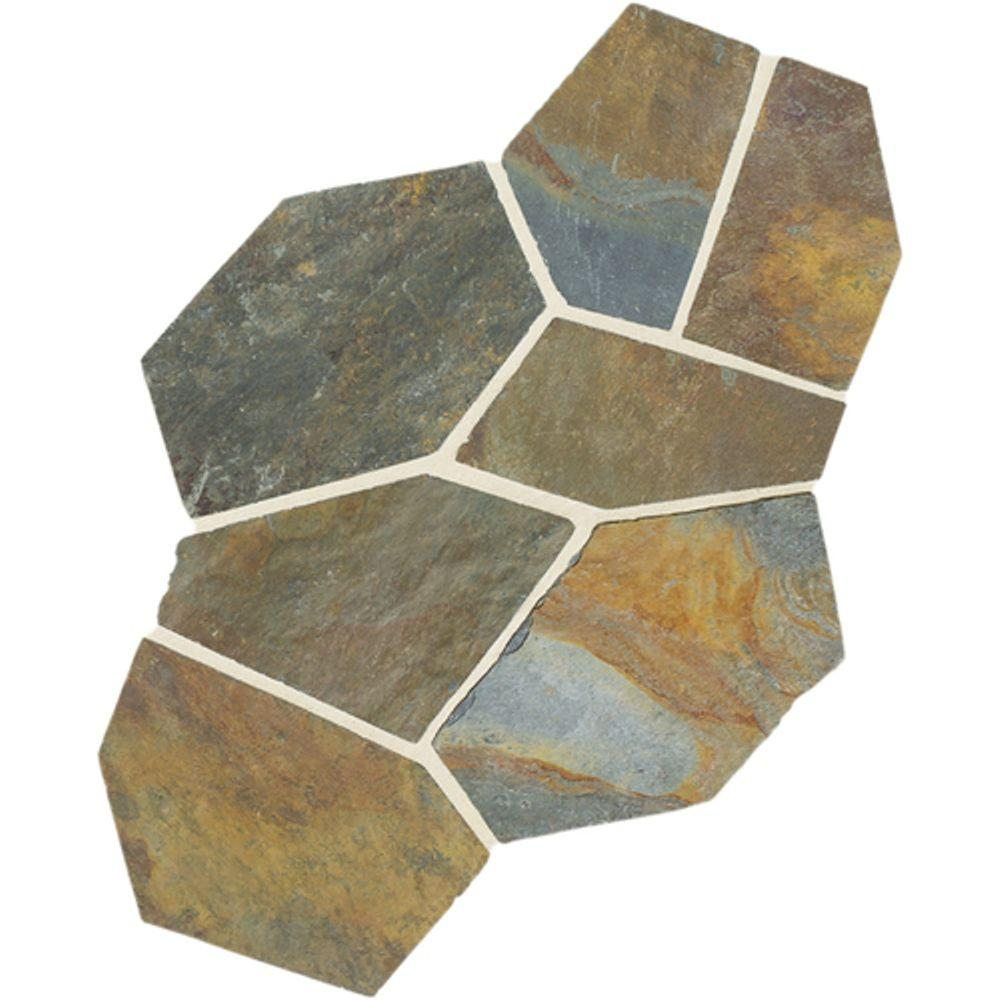 Daltile Natural Stone Collection Mongolian Spring 12 In X 24 Slate Flagstone Floor