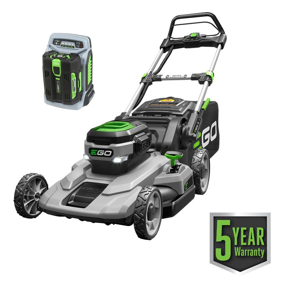 EGO 21 in  56-Volt Lithium-ion Cordless Battery Walk Behind Push Mower 5 0  Ah Battery/Charger Included