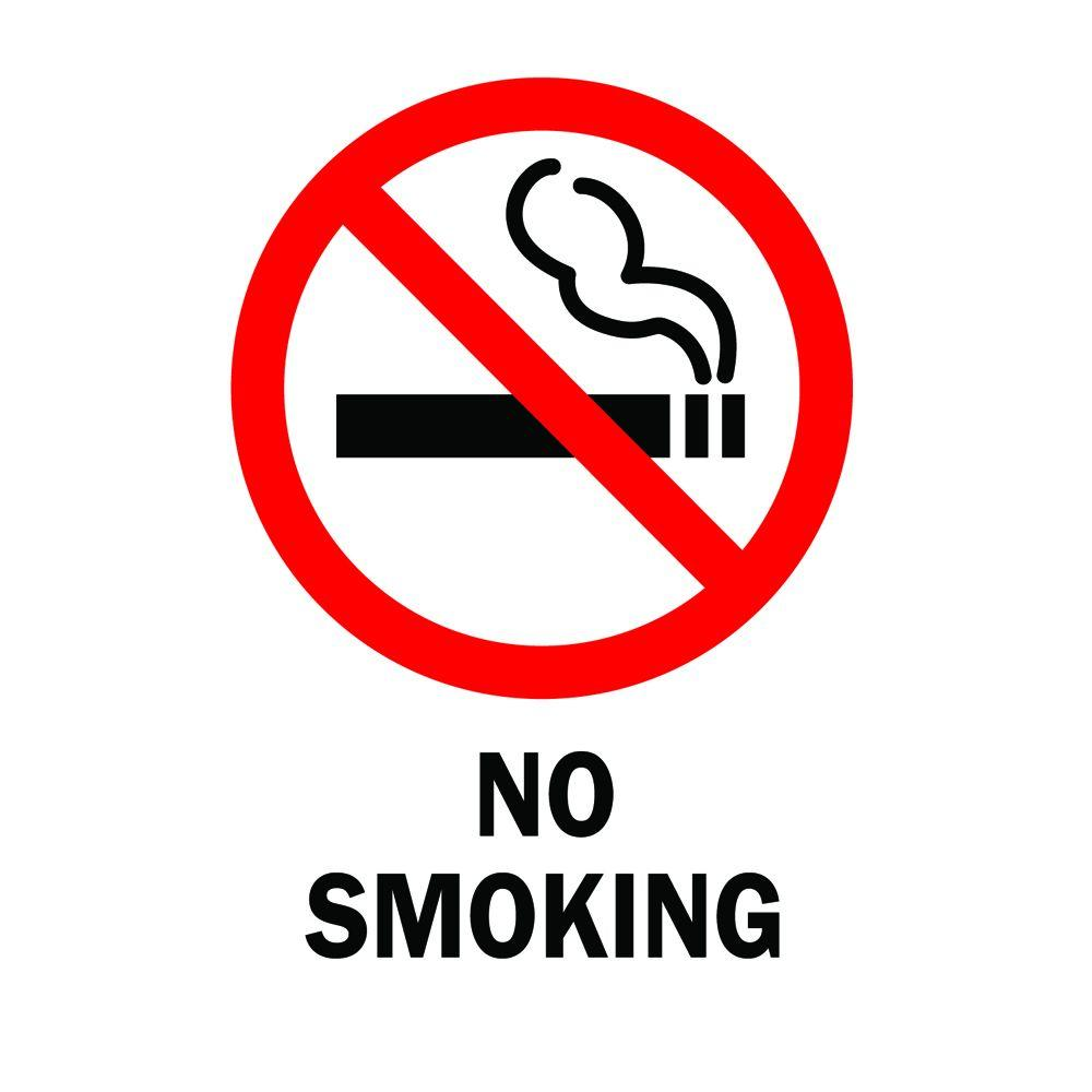 Brady 14 In X 10 In Plastic No Smoking Safety Sign 25120