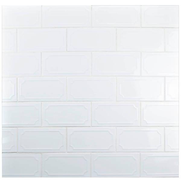 Santorini Blanco 4 in. x 7-7/8 in. Ceramic Subway Wall Tile (12 sq. ft. / case)