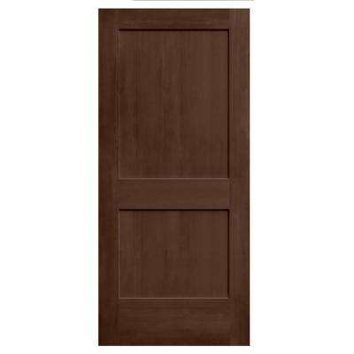 36 in. x 80 in. Monroe Milk Chocolate Stain Molded Composite MDF Interior Door Slab