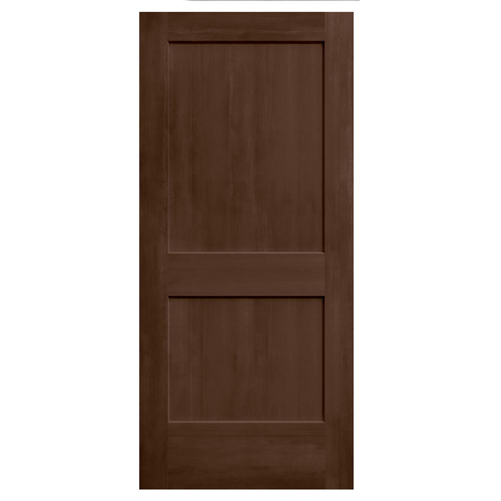 jeld wen 36 in x 80 in monroe milk chocolate stain solid. Black Bedroom Furniture Sets. Home Design Ideas