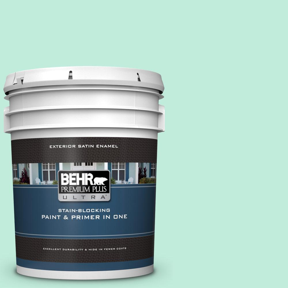 470a 2 Seafoam Pearl Satin Enamel Exterior Paint And Primer In One