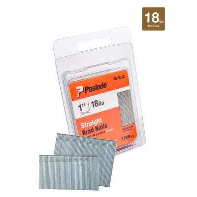 1 in. x 18-Gauge Galvanized Straight Finish Nail (2,000-Pack)
