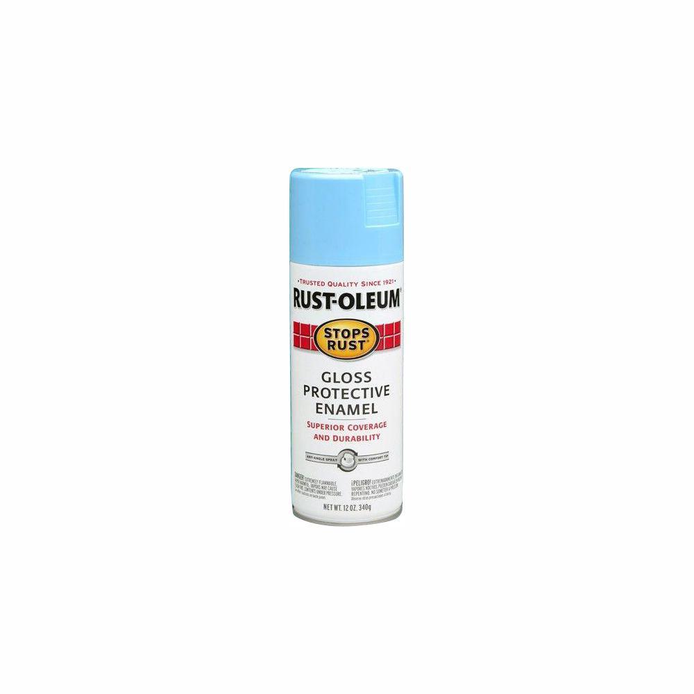 12 oz. Protective Enamel Gloss Harbor Blue Spray Paint (6-Pack)