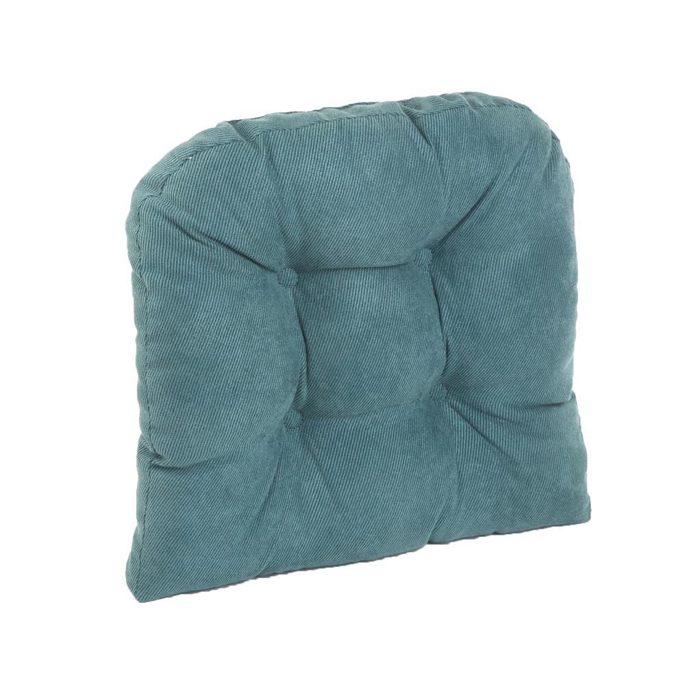 Gripper Non-Slip 17 in. x 17 in. Twillo Marine Tufted Universal Chair Cushions