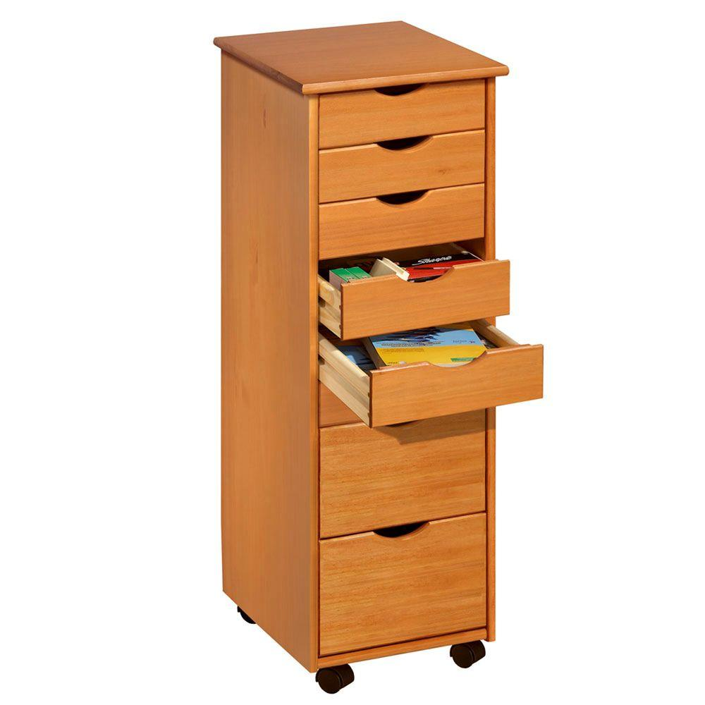 Adeptus Pine Mobile File Cabinet 76156 The Home Depot