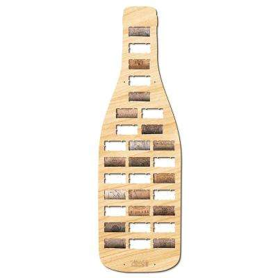 23.5 in. x 7 in. Wine Bottle Shaped Wine Cork Holder
