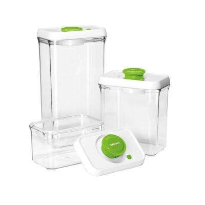 FreshEdge Vacuum-Seal 6-Piece Food Storage System in Green