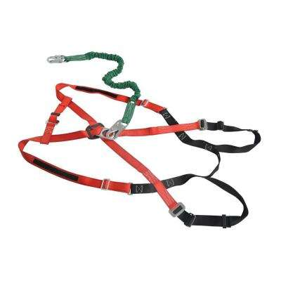 Extra-Extra-Large Harness with Lanyard for Work Platform
